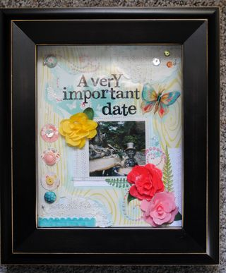 A very important date framed